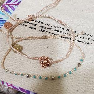 4 Pura Vida Bracelets/ 2 Sets